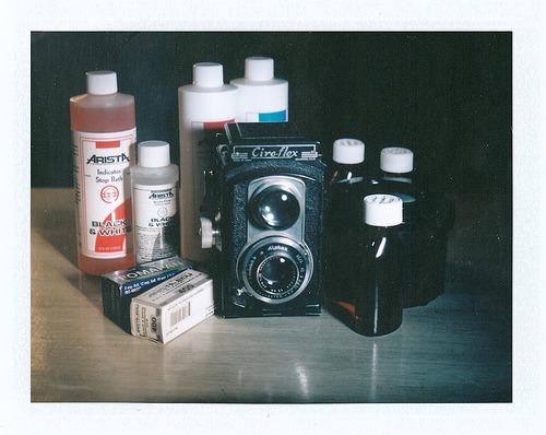 Polaroid 100 Automatic cameraFuji FP-100c instant color film