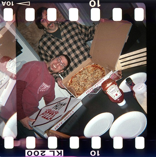 exuberant PIZZA faces