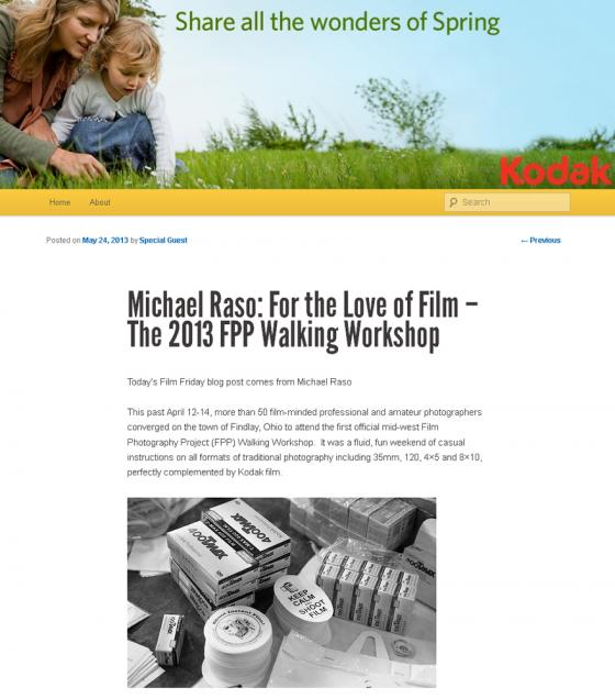 FPP Walking Workshop Recap on Kodak's FILM FRIDAY! - The Film