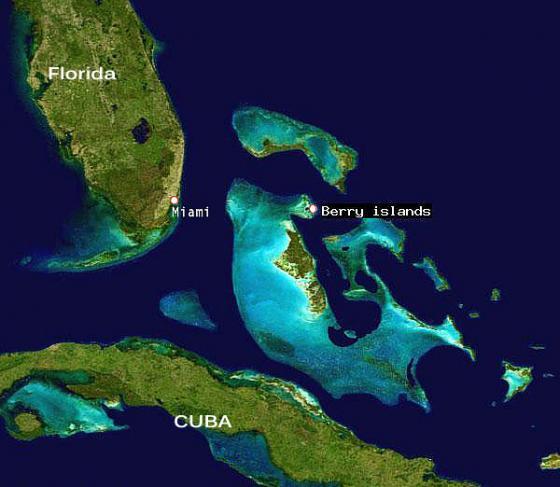MAP Miami to Berry Islands Public Domain Nasa
