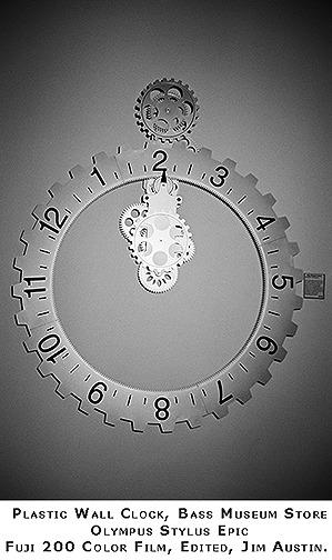 Museum Store Plastic Clock Jim Austin 2014