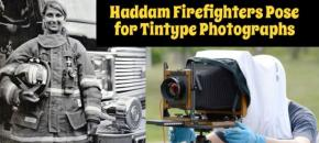 Haddam Firefighters Pose for Tintype Photographs