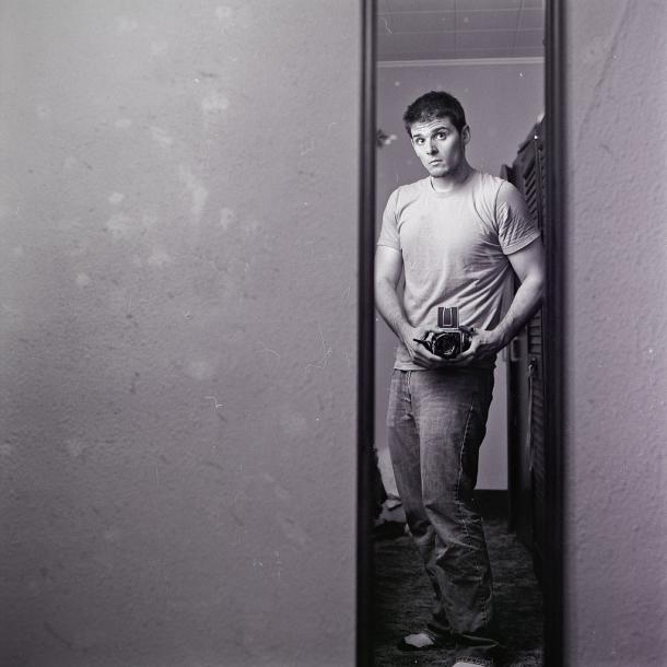B&W 6×6 Self Portrait
