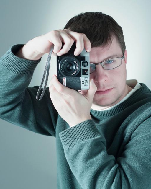 Alex shoots the Plastic Filmtastic Debonair!