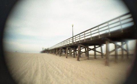 Flipped Lens--Seal Beach Pier