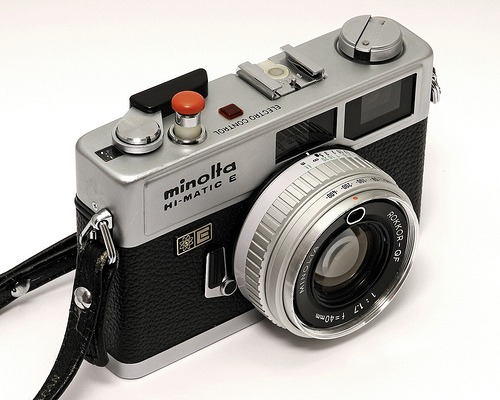 Minolta Hi-Matic E Camera!