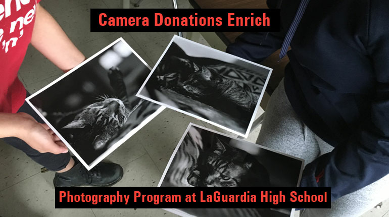 Camera Donations Enrich Photography Program at LaGuardia High School