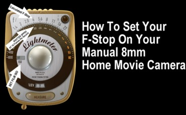 How To Set Your 8mm Movie Camera F-Stop Using LIGHT METER APP