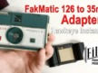 FakMatic 35mm to 126 Adapter with Kodak Hawkeye Instamatic UPDATE
