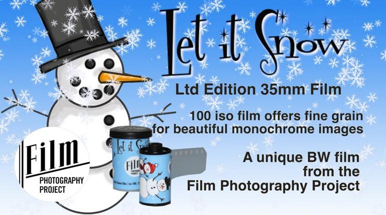 Let It Snow! LTD Edition 35mm BW Film!